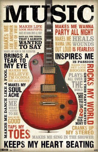 BUY 2 GET 1 FREE! VINTAGE MUSIC INSPIRE ME POSTER PRINT A4 A3 VMIM01