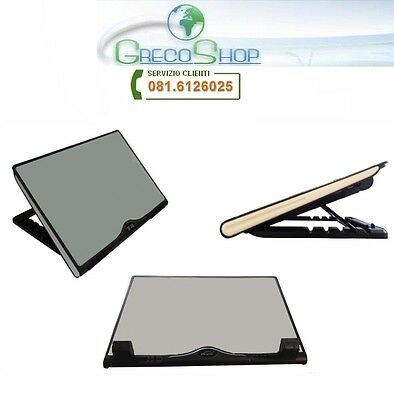 Notebook cool pad/Alza notebook con ventola raffredamento con led - Mod. B