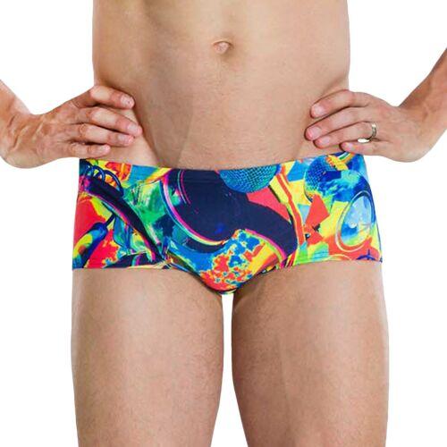 Speedo Mens Flipturns 14cm Allover Swimming Trunks Swim Pool Holiday Briefs