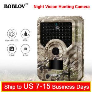 12MP-Night-Vision-Hunting-Camera-49Pcs-IR-Leds-Waterproof-Wildlife-Trail-Camera