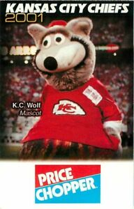 Schedule Football Kansas City Chiefs 2001 Arrowhead Price Chopper Ebay
