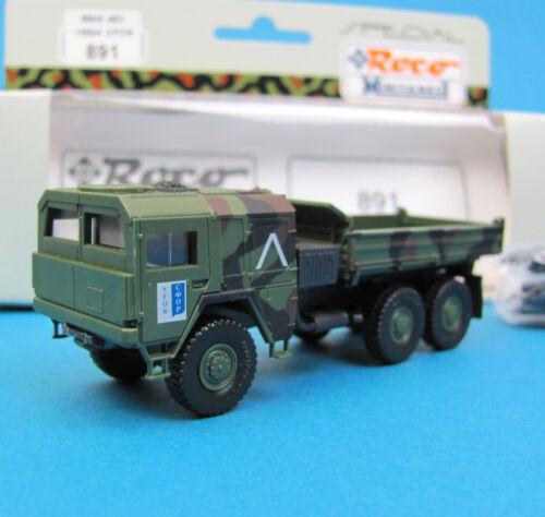 Roco Minitanks H0 891 MAN 453 KIPPER LKW gepanzert getarnt Bundeswehr SFOR 1:87