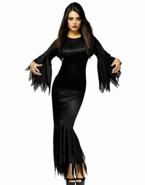 Brand New Madam Morticia Vampire Witch Adult Costume