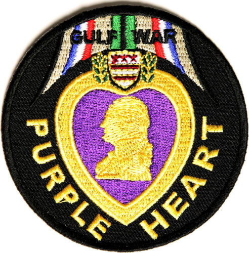 BRAND NEW GULF WAR PURPLE HEART MILITARY PATRIOTIC BIKER IRON ON PATCH