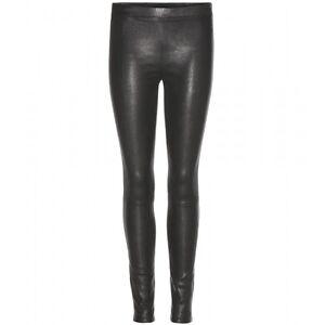 En Herbe Nouveau Véritable Cuir D'agneau Pantalon Skinny Legging Mid Rise Unlined Femmes Vente-afficher Le Titre D'origine