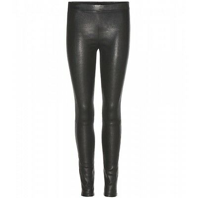 Nuovo Originale Lambskin Leather Skinny Pantaloni Leggings Mid Rise Unlined Donne Vendita-mostra Il Titolo Originale