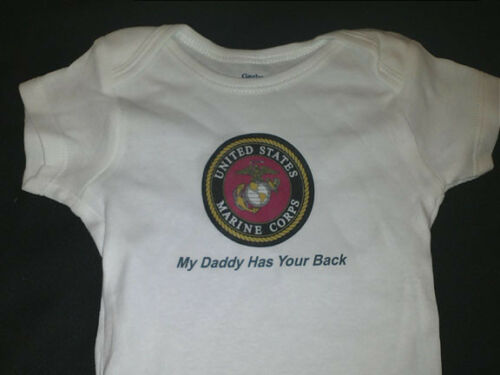 My Daddy has your back MARINES Great Baby shower gift one piece body suit