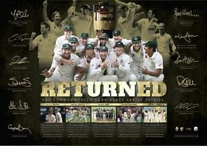 Ashes-Returned-2013-14-Limited-Edition-numbered-print-Framed-licensed