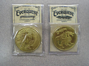 Everquest-II-Set-of-2-Collector-039-s-Series-Coins-EQ2-Everquest-2-Coins-2-amp-3