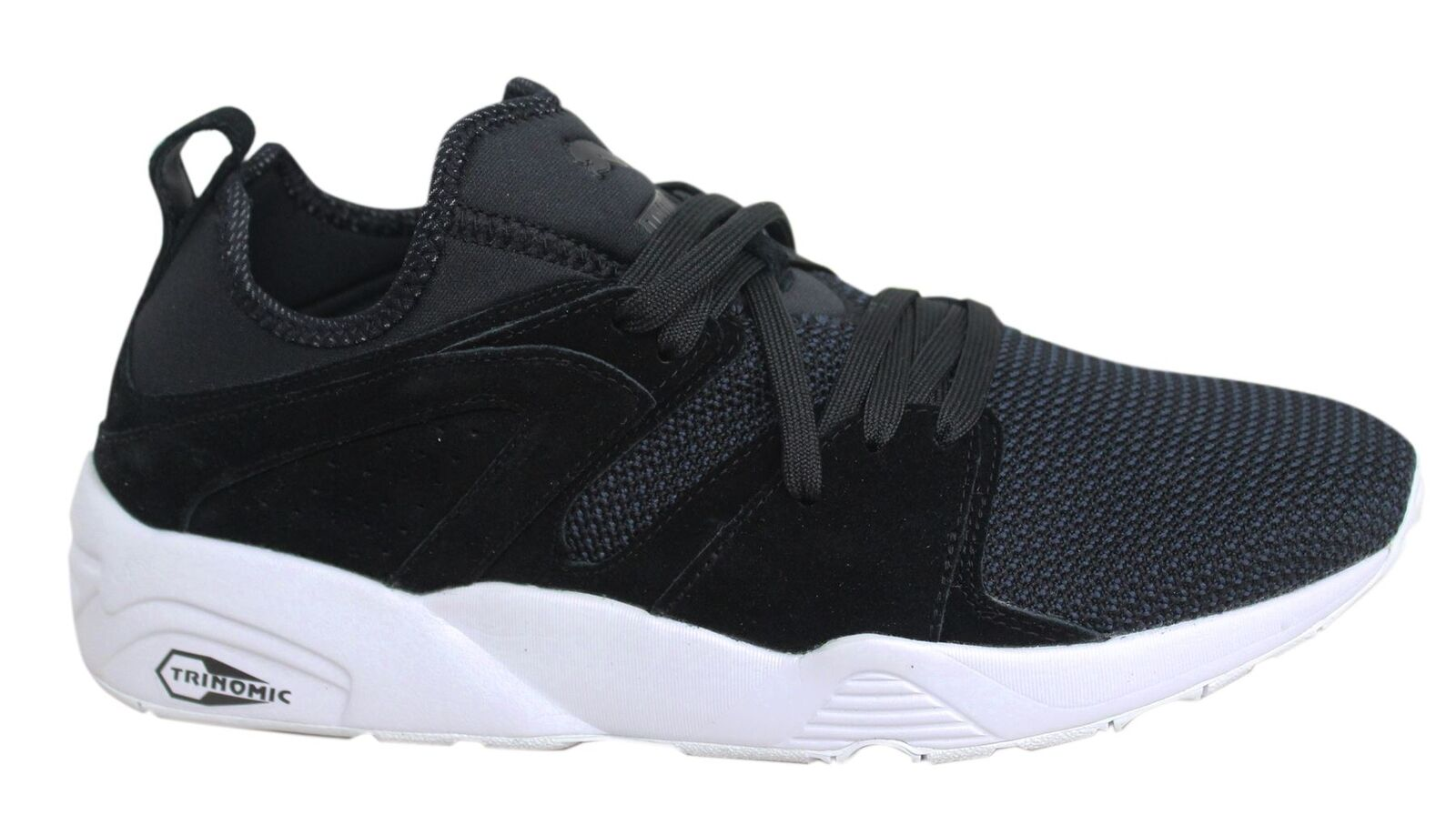 Puma Blaze of Glory Soft Tech Lace Up Noir Textile Hommes Trainers 364128 01 U14