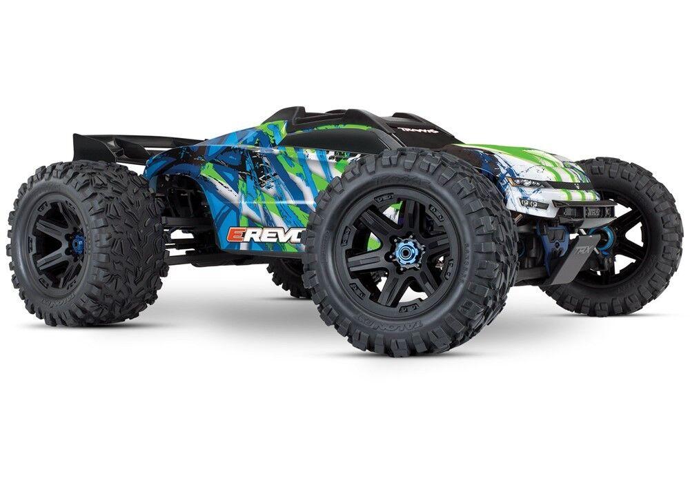 Traxxas E-Revo VXL 2.0 RTR Camión Monstruo eléctrica 4WD (Verde) - TRA86086-4-GRN