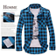 Men-039-s-Classic-Casual-Plaid-Shirt-Fashion-Long-Sleeve-Button-up-Cotton-Shirt-Top thumbnail 5