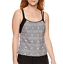 M L New Msrp $48.00 Splashletics Geometric Tankini Swimsuit Top Size S