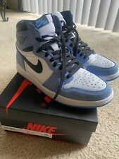 Nike Air Jordan 1 Retro White University Blue Size 9