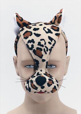 Coraggioso Leopardo Maschera + Sound Costume Adulti Bambini Animali Libro Settimana Costume Maschera Nuovo-mostra Il Titolo Originale