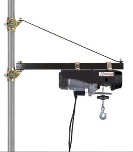 Braccio supporto per paranco elevatore 500 kg girevole a for Paranco elettrico con supporto a bandiera