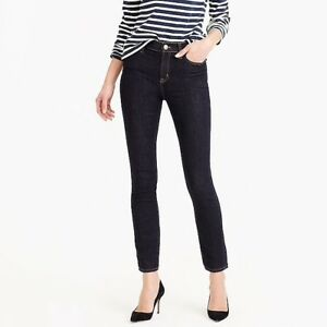 New-J-CREW-9-034-high-rise-toothpick-dark-jean-in-Resin-wash-Size-28-B0737