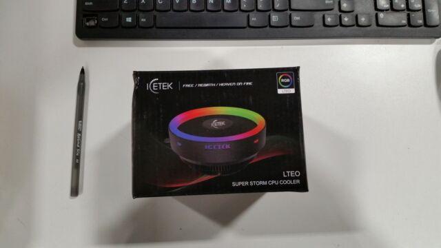 RGB Case Fans 120mm 5Pack ICETEK Kit LED PC Computer Remote Fan Cooling Color