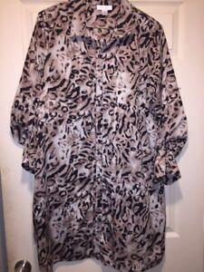 Motherhood Maternity Leopard Print Buttondown Dress Size Xl Ebay