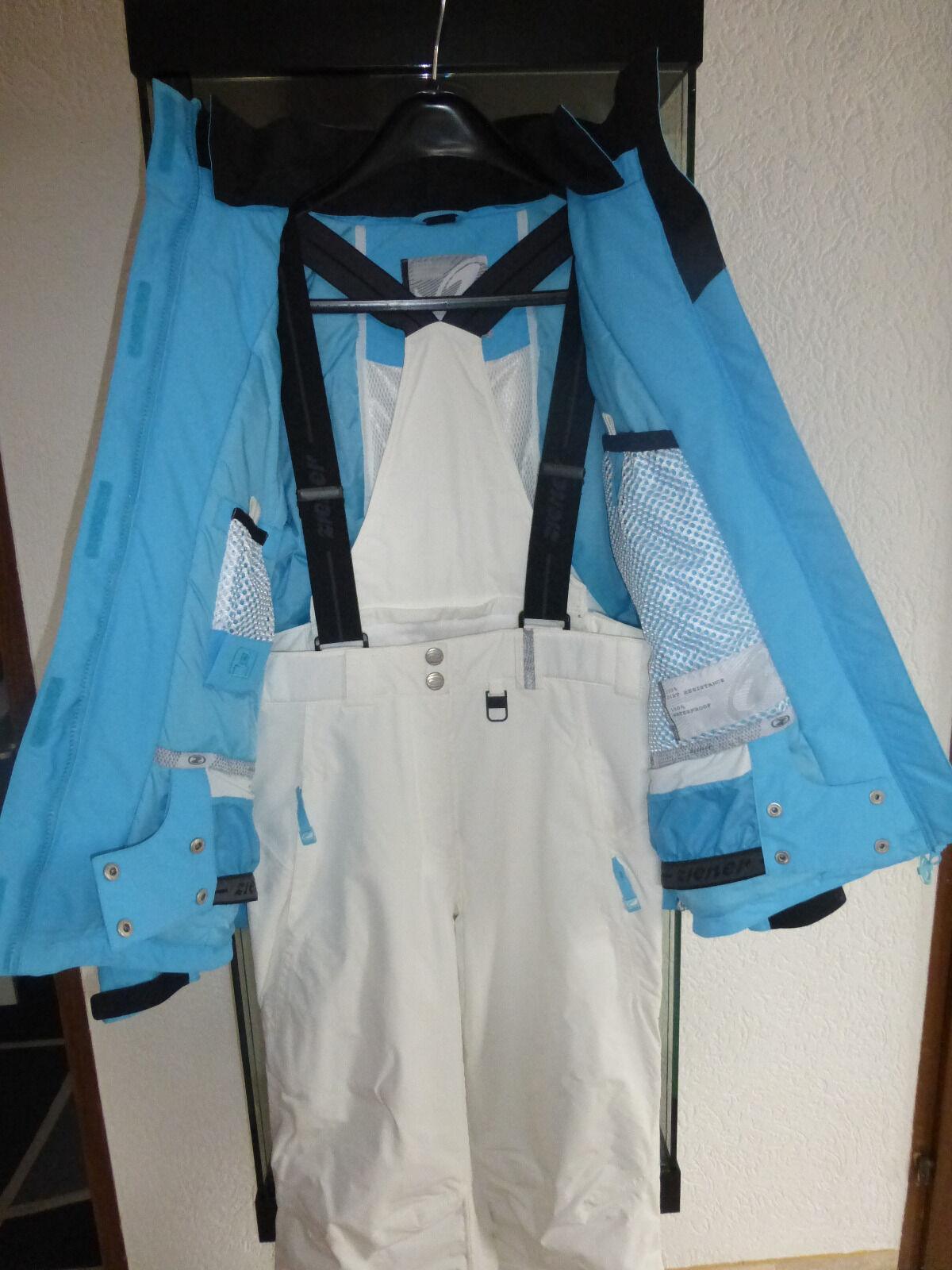 Ziener Damen Skianzug Neu und und und ungetragen Größe 40 Farbe  blau weiß b8568a