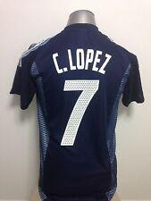 2002 Argentina C. Lopez #7 Away Jersey Size S (Valencia, Lazio)