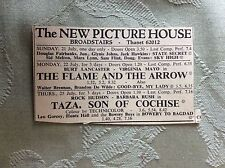 aj ephemera 1950s advert broadstairs picture house the flame and the arrow