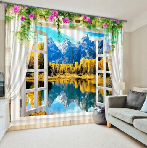 3D Lake Scenery 51 Blockout Photo Curtain Printing Curtains Drapes Fabric Window