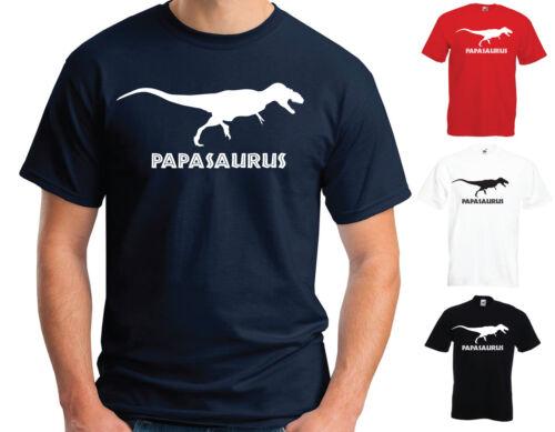 PAPASAURUS T-SHIRT for Papa Funny Dinosaur Father/'s Day Christmas Gift
