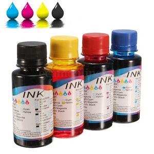 1-4Pcs-100ML-Universal-Tinta-de-Recarga-Ink-Para-HP-amp-Canon-Impresora-Printer