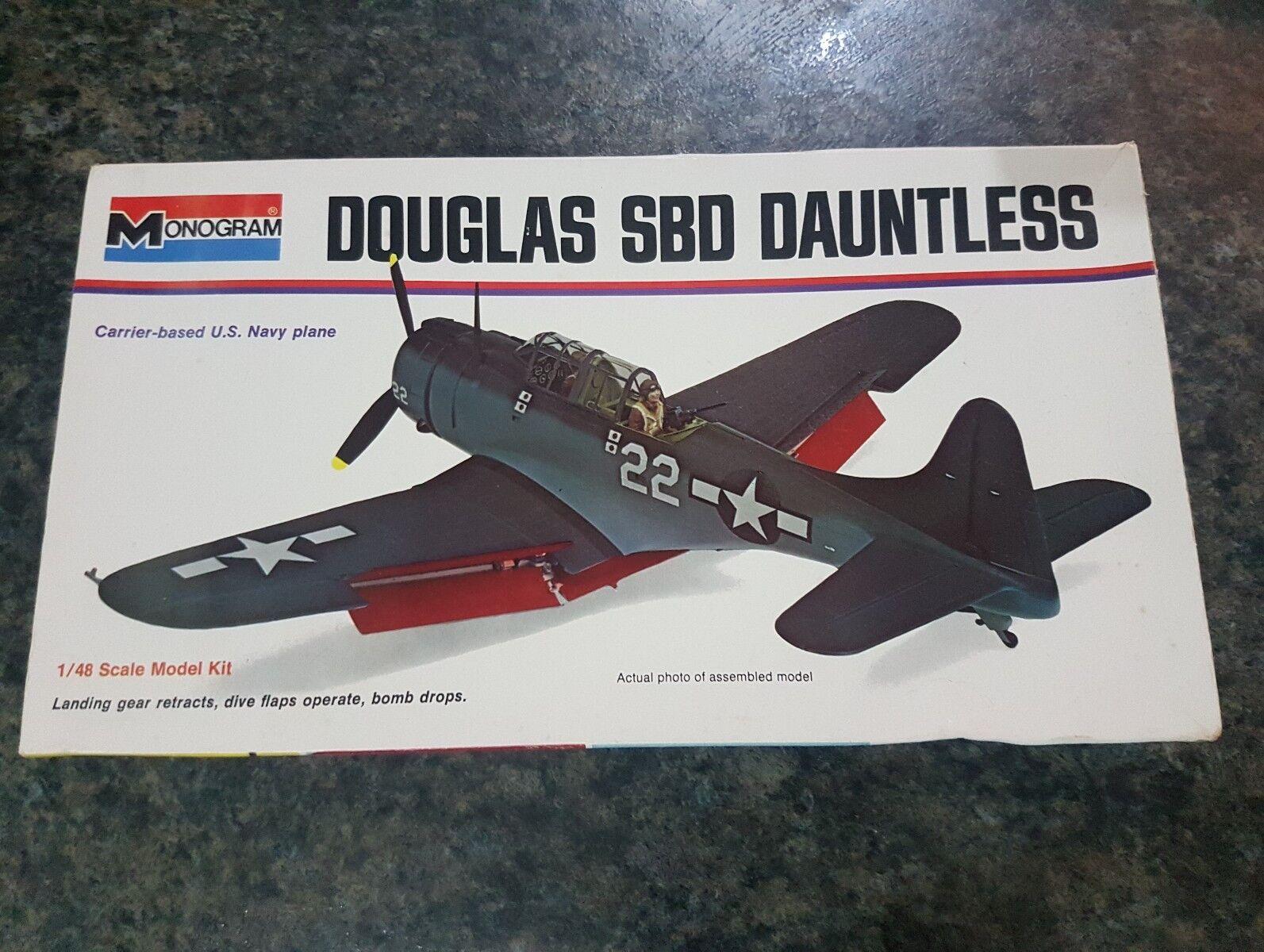 Monogram 1 48 US Douglas SBD Dauntless WW2 Aircraft Great Condition Very Rare