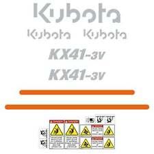 kubota kx41-3v decals, stickers, kx41, Kubota decals, Repro Decal Kit