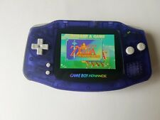 Nintendo Gameboy Advance Console Clear Purple backlight AGS 101 - New Glass Lens