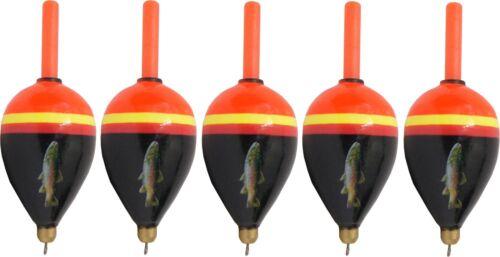 5 Behr Spezial Forellenposen vorgebleite Pose Angelpose zum Forellenangeln