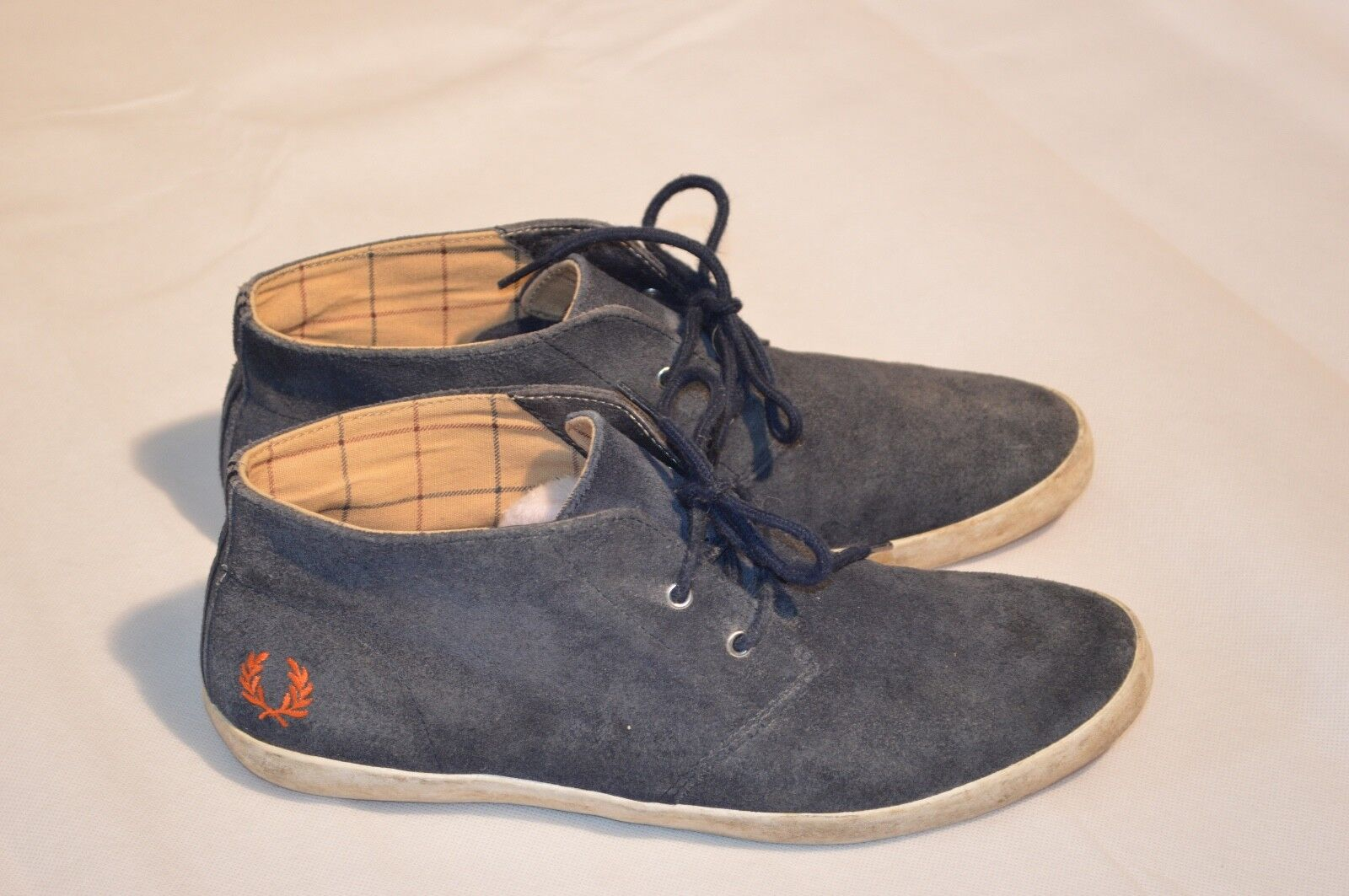 Fred Perry bluee Suede Mid Chukka Boots Trainers shoes Mens Size