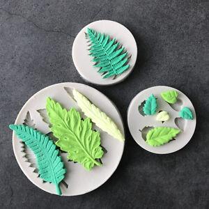 3 IN 1 Leaf Silicone Fondant Mould Cake Plant Tree Sugarcraft Chocolate DIY Mold