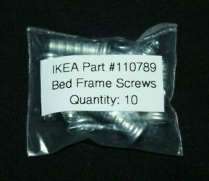 Lot-of-10-Genuine-IKEA-Bed-Frame-Screws-Part-110789-20mm
