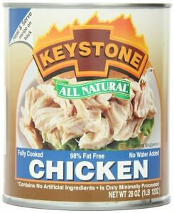 6 Pack Keystone Meat All Natural Canned Chicken, 28 Ounce Long Term Storage Food