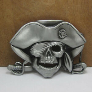 Skull Pirate Belt Buckle Cowboy  Buckles