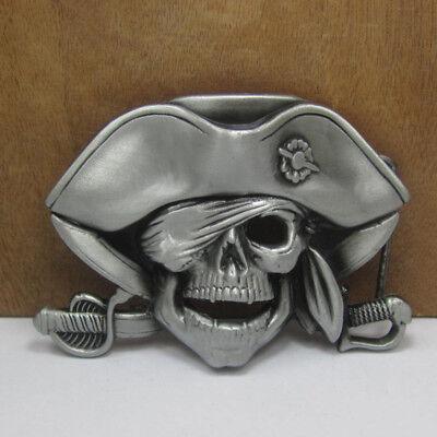 Vintage Double Sea Pirate Skull Men/'s Belt Buckle Jeans Western Funny
