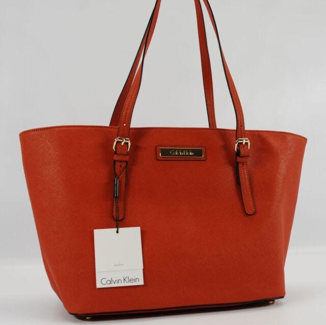 Burnt Orange Tote Bag Handbag Purse