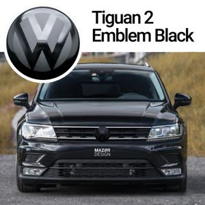VW-Tiguan-2-AD1-Front-Emblem-Schwarz-Black-Vorne-Zeichen-Logo-R-Line-4Motion-ACC