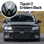 VW-Tiguan-2-AD1-Front-Emblem-Schwarz-Black-Vorne-Zeichen-Logo-R-Line-4Motion-ACC Indexbild 1