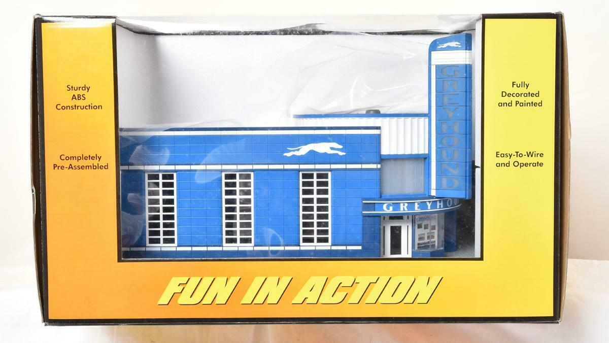Rail King MTH 30-9040 grauhound Bus Station New In box