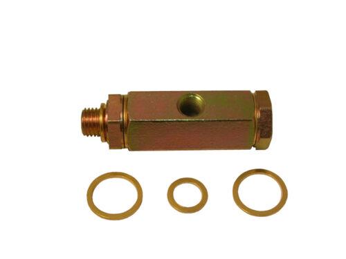 Sensor//Geber T Adapter M12 x P 1,5 Zusatzinstrument für 1//8 NPT 27 Öldruck Y
