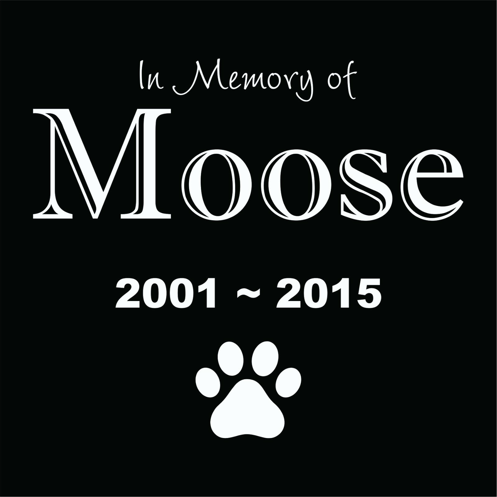 Personalized Pet Stone Memorial Grave Engraved Marker 12 x 12 Bloodhound