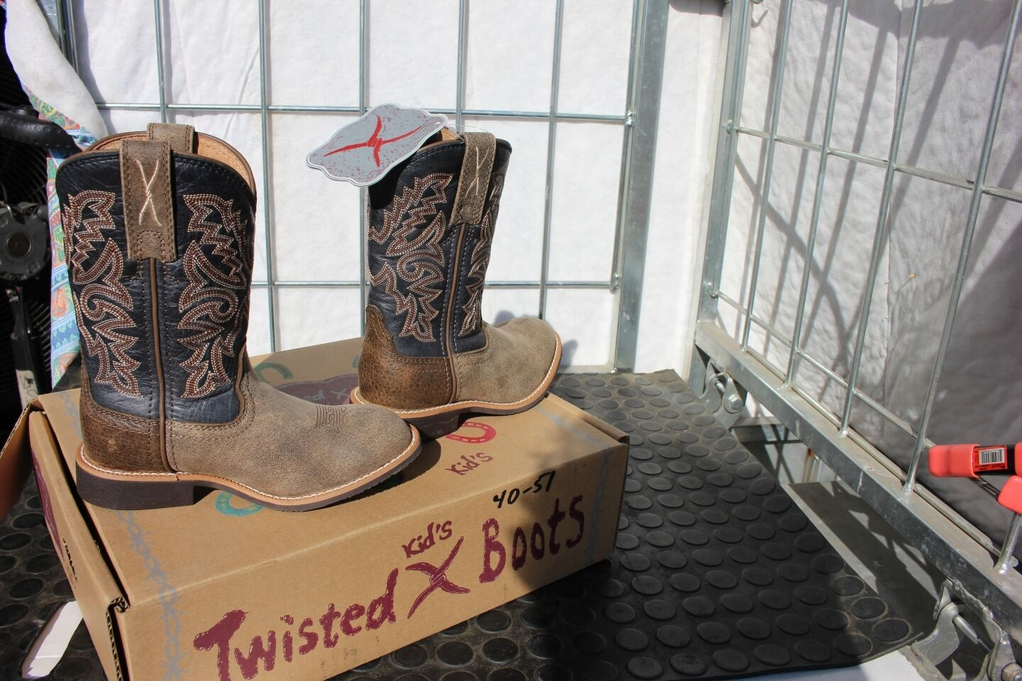 40-51 Hand New child 10M Twisted X Top Hand 40-51 western Stiefel was 95.00 bba173