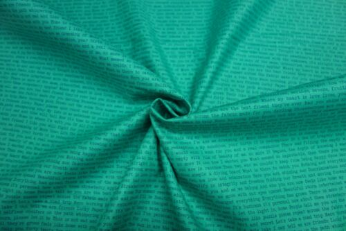 Themed 100/% Cotton Patchwork Fabric Jade TEAL Mixed Patterned Floral