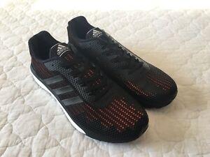 best sneakers f67cb e05e4 Image is loading Adidas-Men-s-Vengeful-Boost-Black-Orange-Running-
