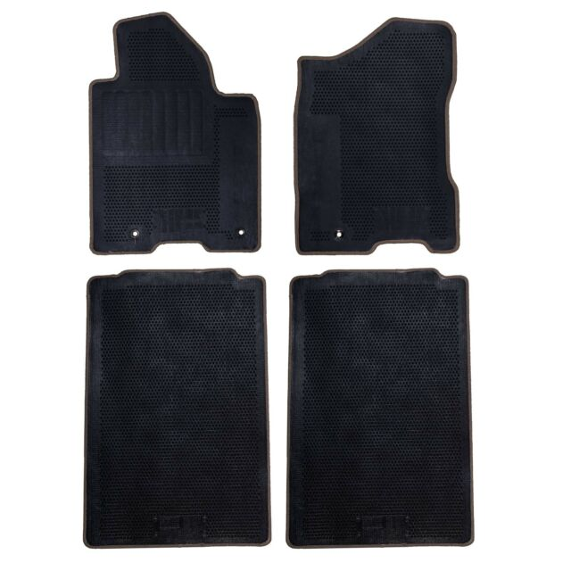 Genuine Toyota Accessories PT908-3410B-02 Front All-Weather Floor Mat - Black Set of 2