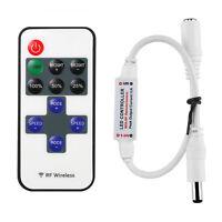 1X Rf Draht 11Key Fernsteuerpult Minidimmer Einzelner Farbe LED Streifen RW
